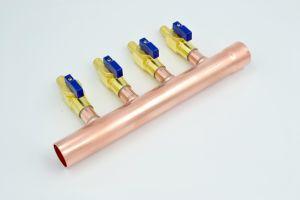 4ポートの球弁の配管多岐管