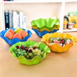 &Écologique pratique plastique multicolore Assiette de fruits ou de la nourriture le bac