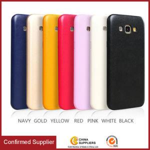 贅沢で極めて薄いPUの革スマートな携帯電話の箱の裏表紙