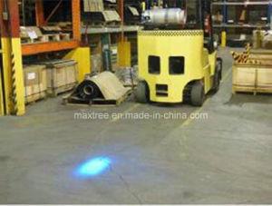 Almacén azul terreno impermeable de punto de luz de seguridad de la carretilla elevadora