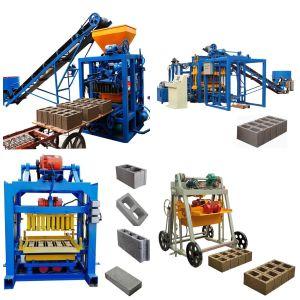 Qt4 24 machine de brique à verrouillage semi-automatique de ciment manuelle béton creux Prix machine à fabriquer des blocs