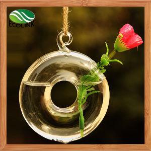 Home DecorationのためのハングのRound Glass Vase