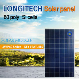 Panneau de cellules solaires 60/72 Poly-Si Mono-Si 275W/280W/285W/290W
