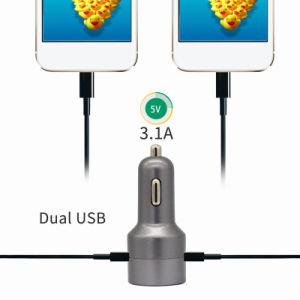 Il USB doppio di qualità superiore dei commerci all'ingrosso FM Bluetooth Ports il caricatore del veicolo per il trasporto del metallo