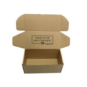 Transporte de papel caixa de papelão ondulado castanho