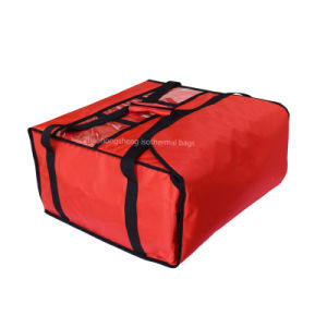熱絶縁されたピザ食糧配達袋の把握5 19のピザボックス