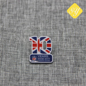 고품질 주문 접어젖힌 옷깃 Pin는 도매 금속 기장을 수여한다