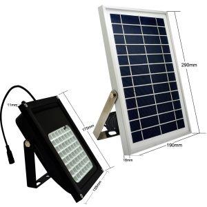 IP65はリモート・コントロール56のLEDsの太陽洪水の景色の庭ライトを変更する太陽LEDのフラッドライトRGBカラーを防水する