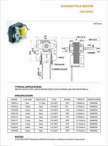 3000 rpm del ventilador del horno Polo sombreado Motor eléctrico con las hojas