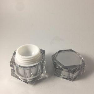 装飾的な包装のための10gアクリルの贅沢な銀製の菱形のクリーム色の瓶