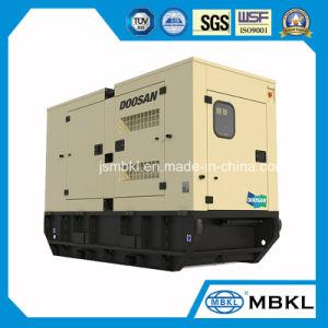 Barato preço 250kVA/200kw Geradores alimentados por Doosan Motor Diesel com canópia silenciosa