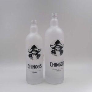 Tequila-Glasware-Flasche, Wodka-Glasflasche, destillierte Spiritus-Flasche