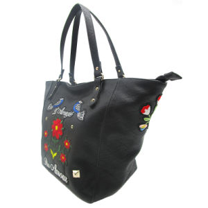 Las mujeres bordados de moda bolso de hombro Bolso Bolso De cuero de PU nuevo diseñador de moda señoras Tote Bolsos