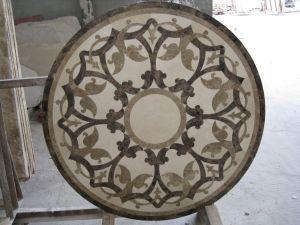 大理石のウォータージェットの円形浮彫りの床またはホテルのための自然な石造りのモザイク模様