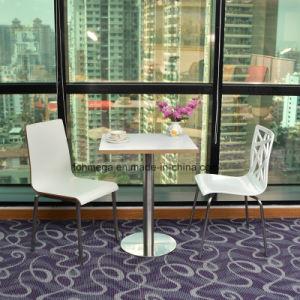 La luz de color blanco mesa de comedor Silla para el patio de comidas y restaurantes