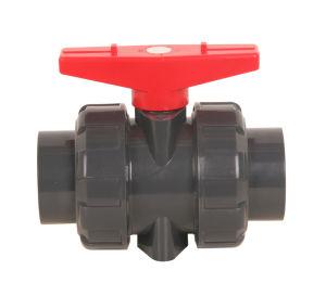 Valvola di plastica del sindacato dell'accessorio per tubi del PVC doppia
