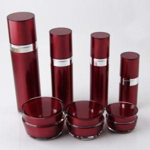 赤く装飾的な包装Set7アクリルのクリーム色の瓶のローションのびん(PPC-CPS-019)