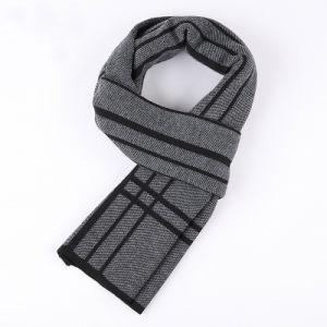 人の方法によって点検されるパターン冬の暖かい編まれたスカーフ(YKY4614)