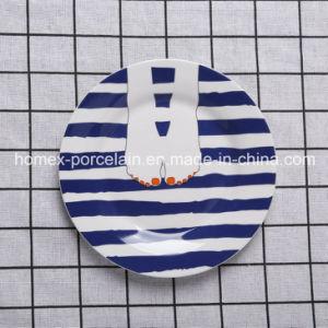 Westliches modernes blaues Art-Porzellan-Essgeschirr