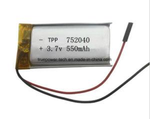 Bluetooth를 위한 고품질 Li 중합체 건전지 Tpp752040 550mAh