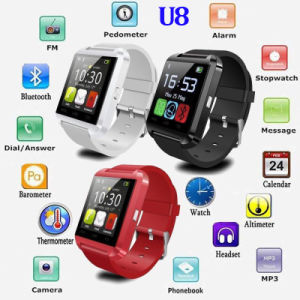 Nuevo reloj Bluetooth del teléfono inteligente Android con podómetro (U8)