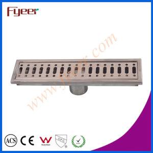 Rectángulo Odor-Resistant Fyeer 30cm de largo de drenaje de piso de acero inoxidable