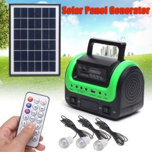 Горячая продажа 5W солнечного света Дом Солнца с 3 лампами радио MP3 светодиодная лампа с солнечной энергии