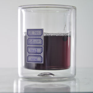 Tazze/tazze di vetro beventi doppie di lusso della cristalleria del buon fornitore