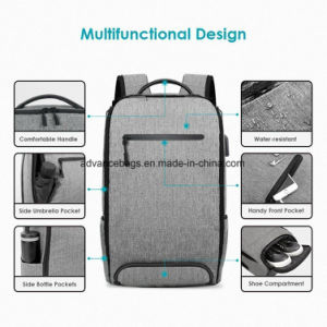 Colégio escolar Travel Business Notebook Computador iPad mochila com carregador USB