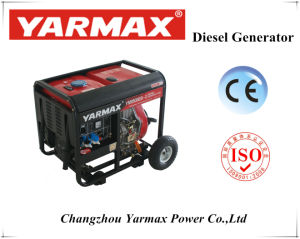 Open Top de type silencieux générateur diesel portable avec une forte puissance
