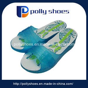 Кристально чистым техническим вазелином благоухающем курорте ПВХ женщин обувь печать внутренняя подошва