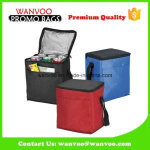 Refroidisseur d'isolation Bag-Polyester Pack de 6 sac à lunch avec poignée & Pocket