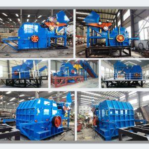 De Gebruikte RubberBanden die van het afval Plastiek Ontvezelmachine van de Schacht van Machines de Dubbele recycleren
