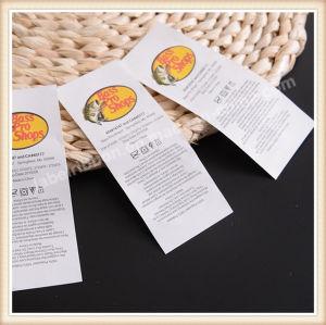 Tejido de las etiquetas de ropa de marca ropa personalizada etiquetas
