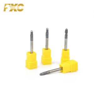 Nova promoção Carbide HRC45 2 flautas máquina de corte CNC do nariz de Esferas