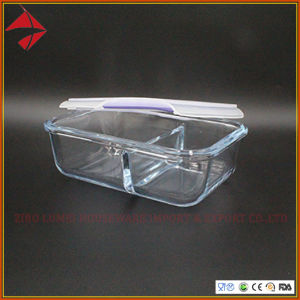 Lumei Wärme, die Microwaveable Glasnahrungsmittelbehälter widersteht
