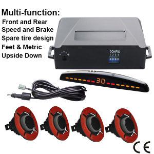 16,5 mm pequeno anel de auxílio ao estacionamento dianteiro pára-choques metálicos do sensor de auxílio ao estacionamento