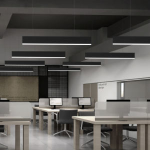 Hotel Lustre LED retangular de projeto Luz Pendente