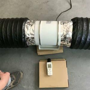 Nuevo estilo silencioso ventilador para los equipos y reducir el ruido de la conducto flexible