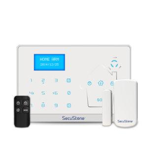 Yl-007m2-1 PSTN&GSMのスマートなホームアラーム34の防衛ゾーン情報処理機能をもったGSMホームアラームが付いている無線Multi-Language機密保護アラーム