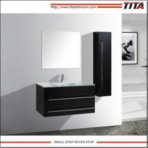 Lacado armario Baño moderno con cristal templado T9007Cuenca una