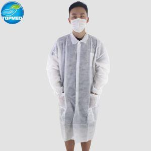 Suprimentos médicos gerais batas de laboratório descartáveis baratos bata de laboratório médico