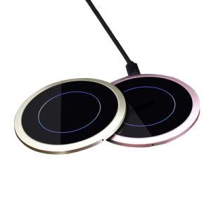 Producto patentado Ultra delgado aleación de aluminio Logotipo exclusivo servicio de personalización de la luz de la respiración cargador inalámbrico