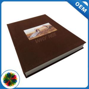 Conception élégante couverture rigide en cuir imprimé enfants livre Livre photo