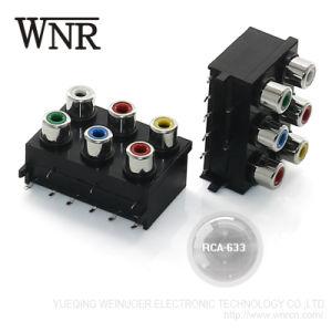 Jack áudio AV Wnre Pino RCA Jack para montagem de PCB