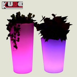 Солнечная кадки и сажалок с подсветкой LED пластиковые Flower Pots