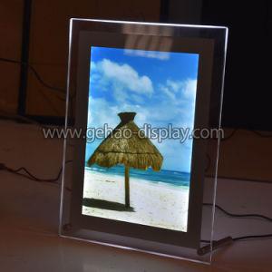 Batería de LED de acrílico cristal Opearated encimera de la mesa Caja de luz de escritorio
