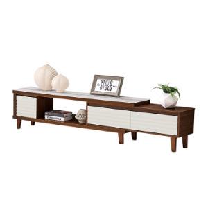 Sala de estar elegantes maderas muebles baratos Muebles de soporte de TV de vidrio