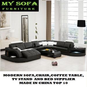 Salón colorido de lujo moderno sofá de cuero