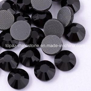 het Kristal Strass van het Glas van de Toebehoren van de Kunst van de Spijker van de Bergkristallen van 2mm (fB-Ss6 straalzwarte)